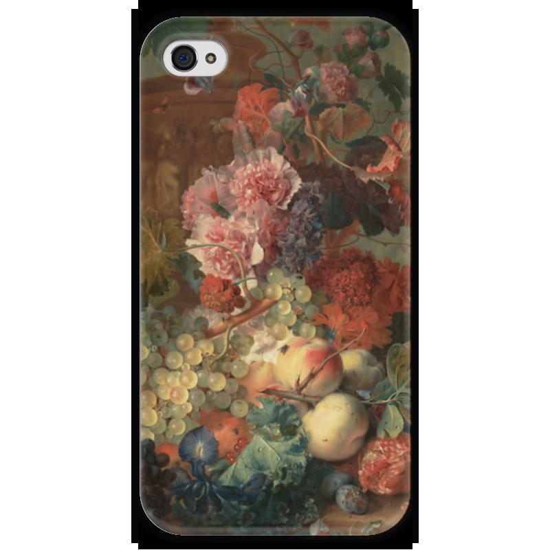 Чехол для iPhone 4 глянцевый, с полной запечаткой Printio Цветы (ян ван хёйсум) чехол для samsung galaxy s5 printio цветы ян ван хёйсум
