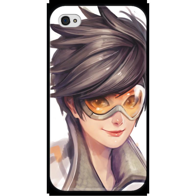 Чехол для iPhone 4 глянцевый, с полной запечаткой Printio Трейсер чехол для iphone 4 глянцевый с полной запечаткой printio бэтмен