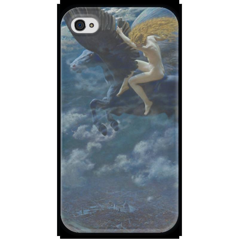 Чехол для iPhone 4 глянцевый, с полной запечаткой Printio Идиллия мечты. валькирия (эдвард роберт хьюз) домкрат гидравлический бутылочный sparta 2т 148 278мм 50321