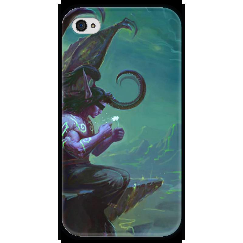 Чехол для iPhone 4 глянцевый, с полной запечаткой Printio Warcraft collection: illidan чехол для iphone 4 глянцевый с полной запечаткой printio эфиопка