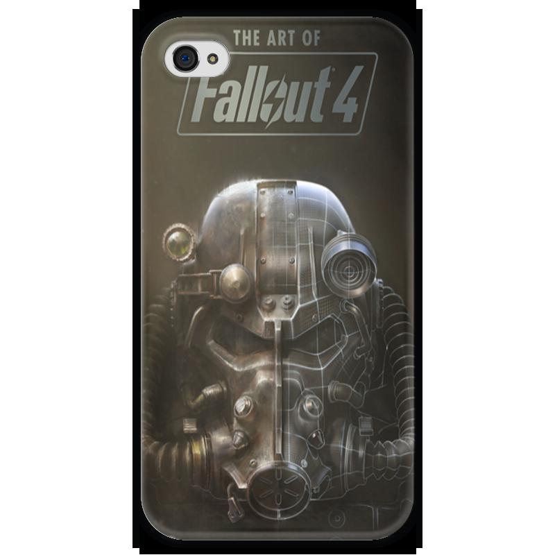 Чехол для iPhone 4 глянцевый, с полной запечаткой Printio The art of fallout 4 чехол для iphone 7 глянцевый printio horror art