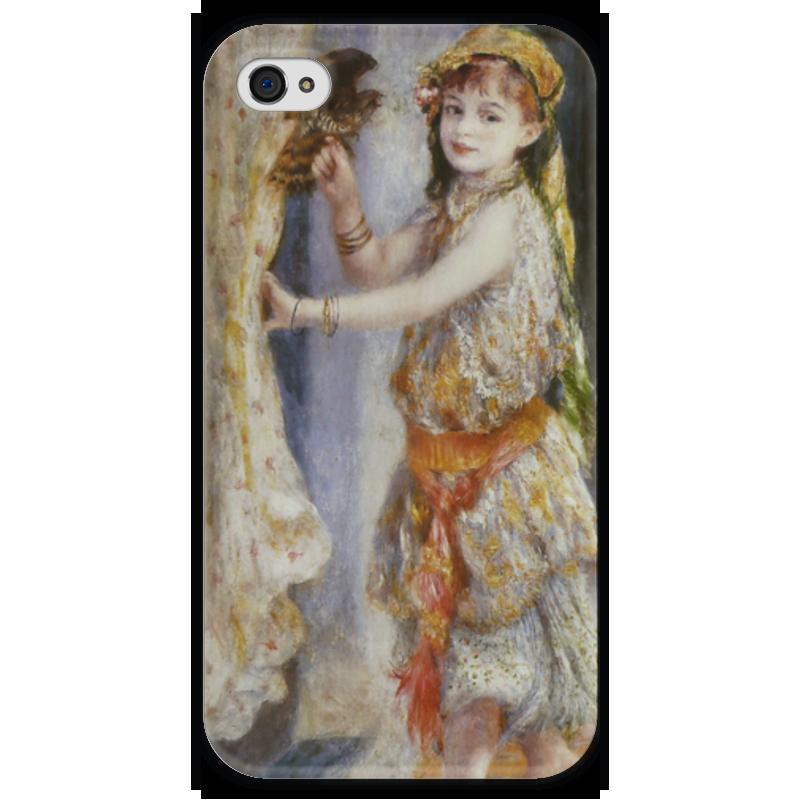 Чехол для iPhone 4 глянцевый, с полной запечаткой Printio Девочка с соколом (пьер огюст ренуар) чехол для samsung galaxy s5 printio буря пьер огюст кот