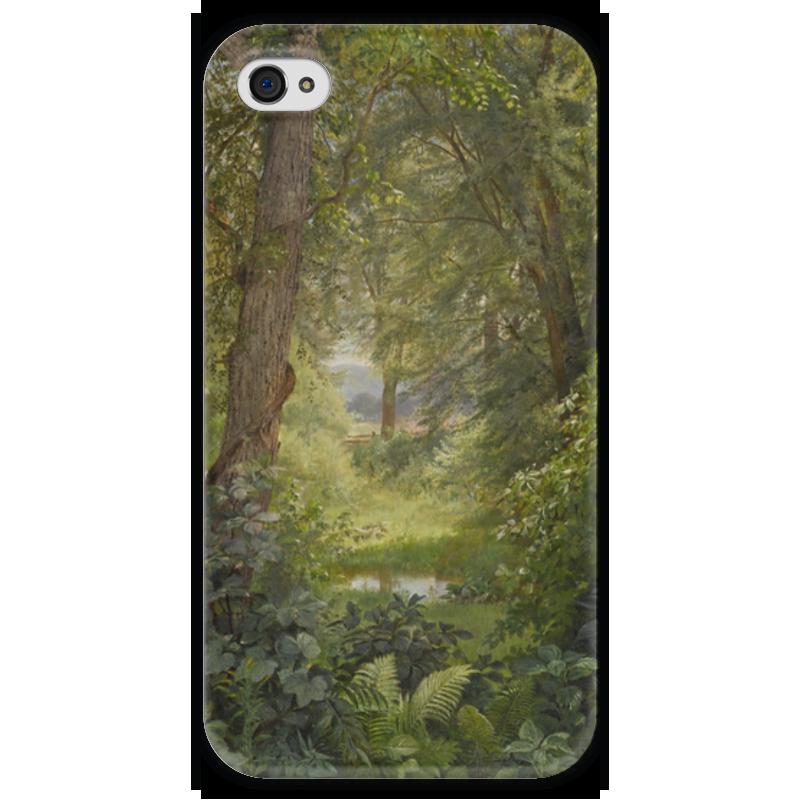 Чехол для iPhone 4 глянцевый, с полной запечаткой Printio Лесной пейзаж (уильям трост ричардс ) футболка для беременных printio кит ричардс