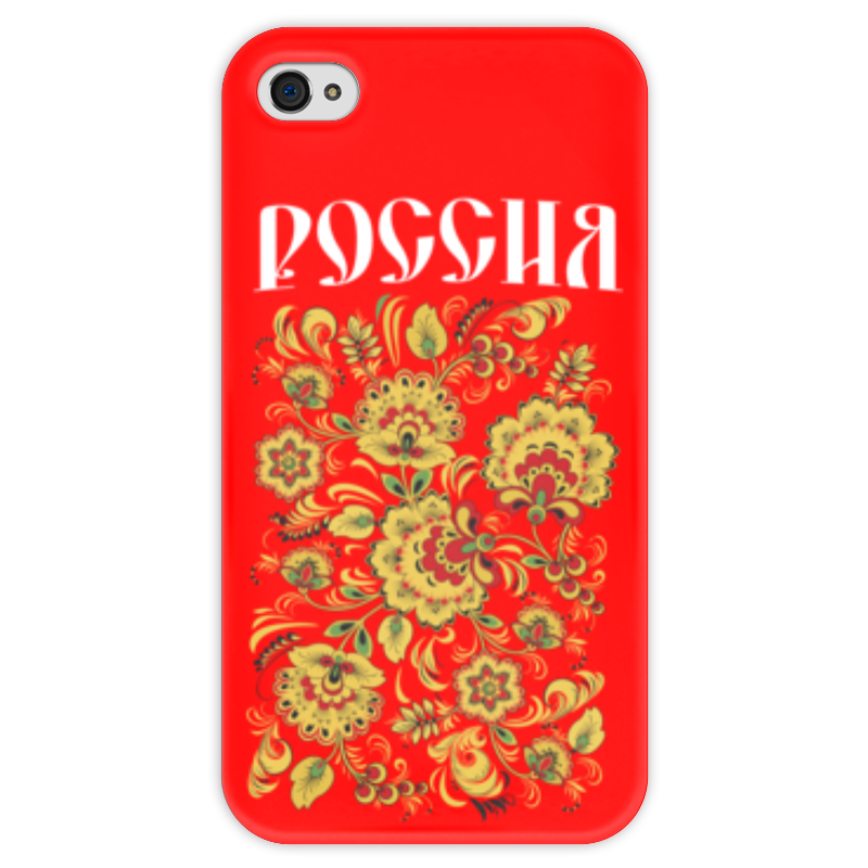 Чехол для iPhone 4 глянцевый, с полной запечаткой Printio Россия чехол для iphone 4 глянцевый с полной запечаткой printio эфиопка