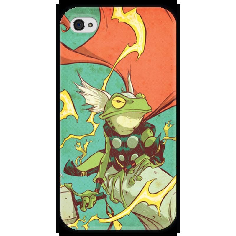 Чехол для iPhone 4 глянцевый, с полной запечаткой Printio Comics art series: тор кастрюля эм 4 0л тор бант 1238578