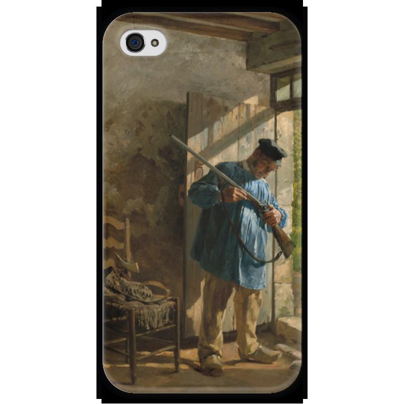 Чехол для iPhone 4 глянцевый, с полной запечаткой Printio Перед охотой (юрий шубиц) апартаменты в словении копер