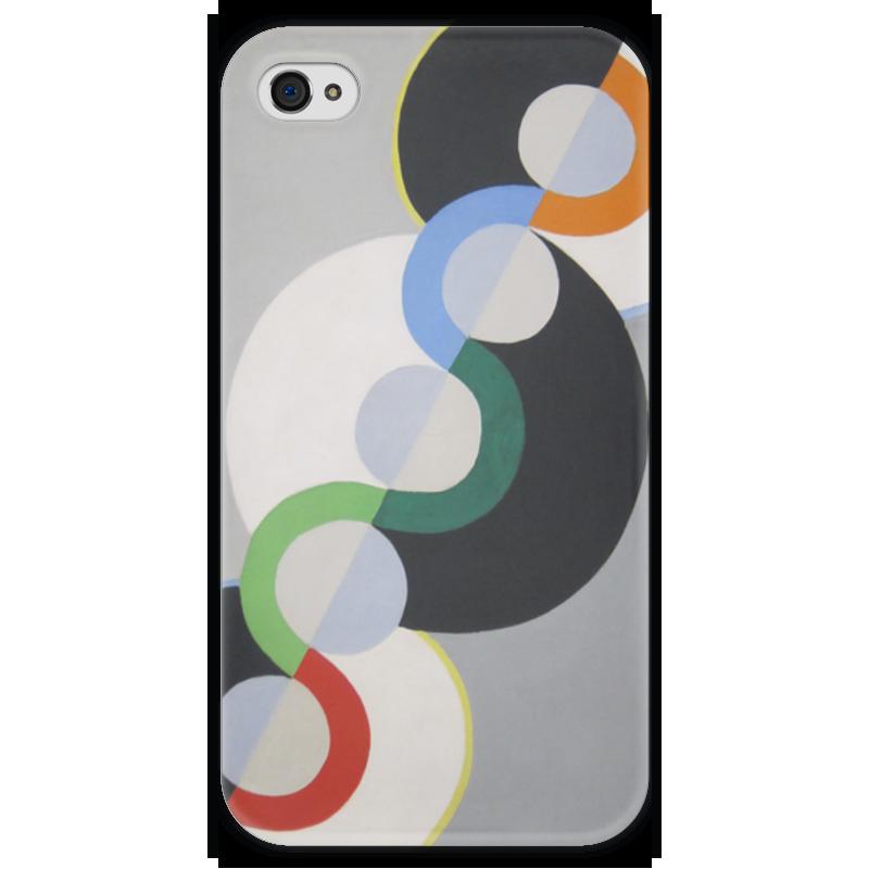 Чехол для iPhone 4 глянцевый, с полной запечаткой Printio Бесконечный ритм (робер делоне) футболка с полной запечаткой мужская printio обнажённая с книгой робер делоне