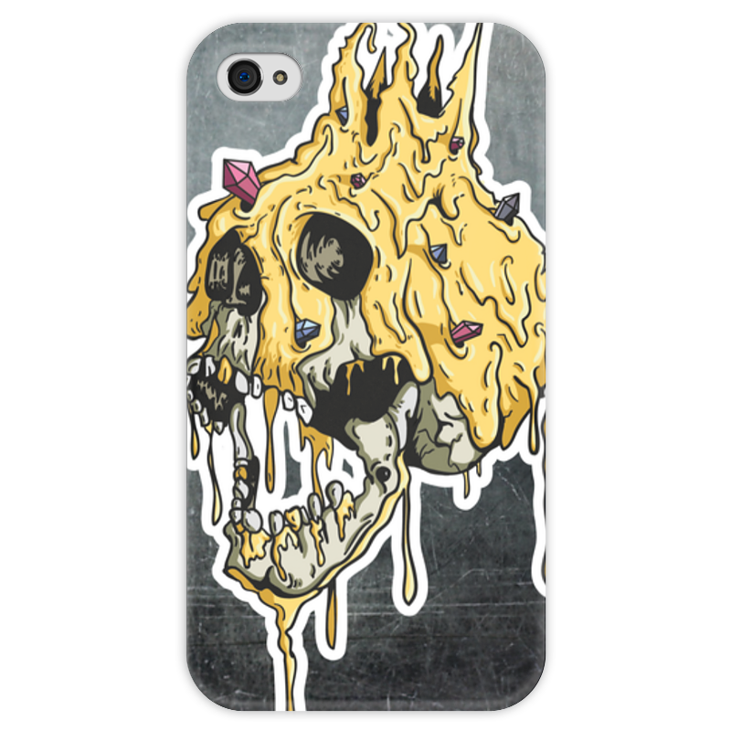Чехол для iPhone 4 глянцевый, с полной запечаткой Printio Gold skull чехол для iphone 4 глянцевый с полной запечаткой printio skull girl