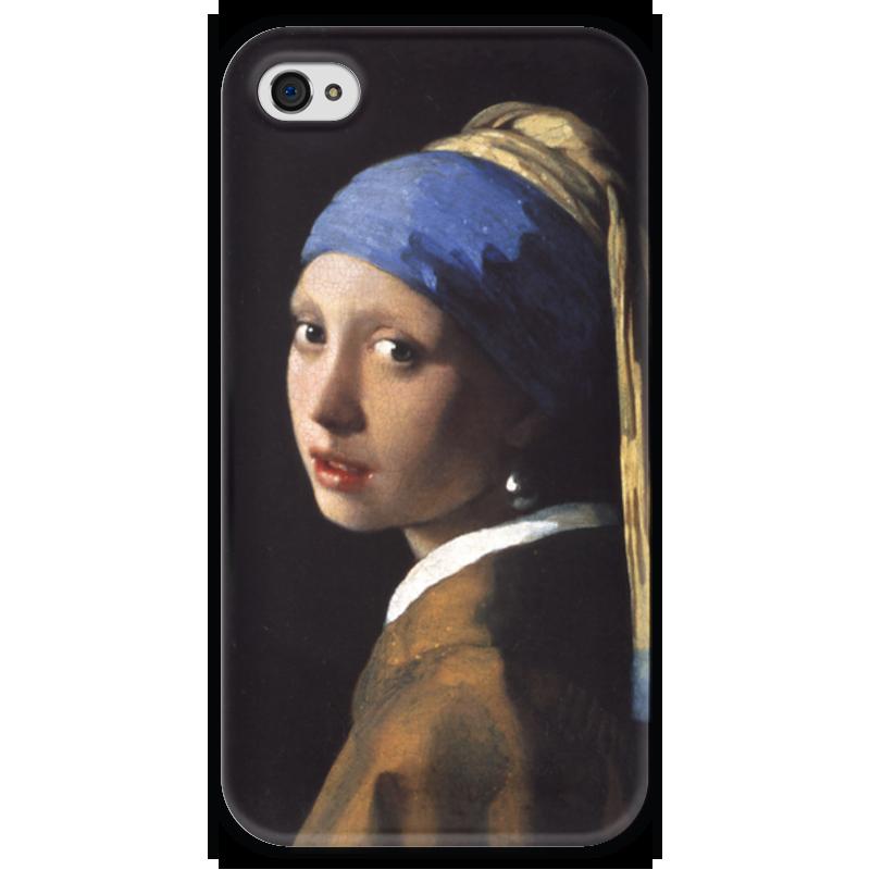 Чехол для iPhone 4 глянцевый, с полной запечаткой Printio Девушка с жемчужной серёжкой (ян вермеер) рюкзак с полной запечаткой printio девушка с жемчужной серёжкой ян вермеер
