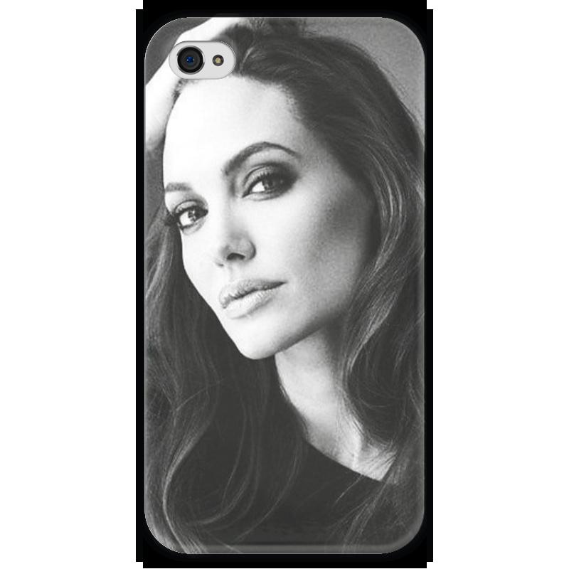 Чехол для iPhone 4 глянцевый, с полной запечаткой Printio Анджелина джолли чехол для iphone 4 глянцевый с полной запечаткой printio эфиопка
