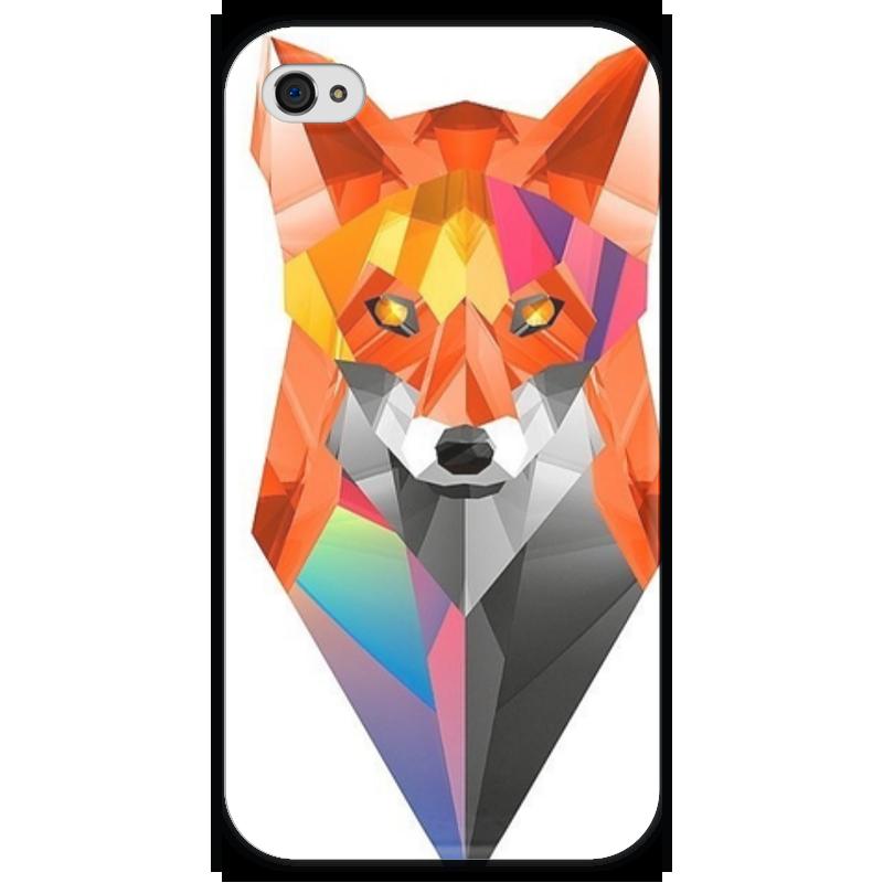 Чехол для iPhone 4 глянцевый, с полной запечаткой Printio Лисица чехол для iphone 4 глянцевый с полной запечаткой printio эфиопка
