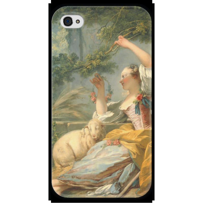 Чехол для iPhone 4 глянцевый, с полной запечаткой Printio Пастушка чехол для iphone 5 глянцевый с полной запечаткой printio флаг пророка жан леон жером