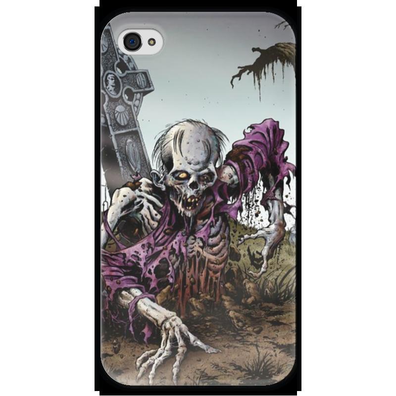 Чехол для iPhone 4 глянцевый, с полной запечаткой Printio Мертвец (зомби) чехол для iphone 4 глянцевый с полной запечаткой printio эфиопка
