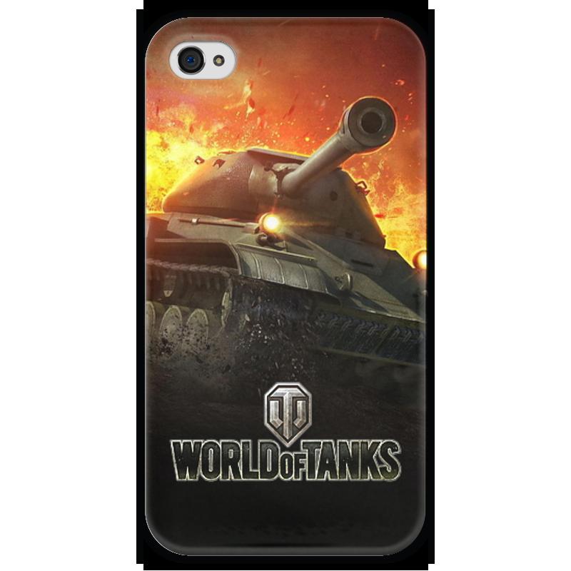 Чехол для iPhone 4 глянцевый, с полной запечаткой Printio World of tanks чехол для iphone 4 глянцевый с полной запечаткой printio study of a lady