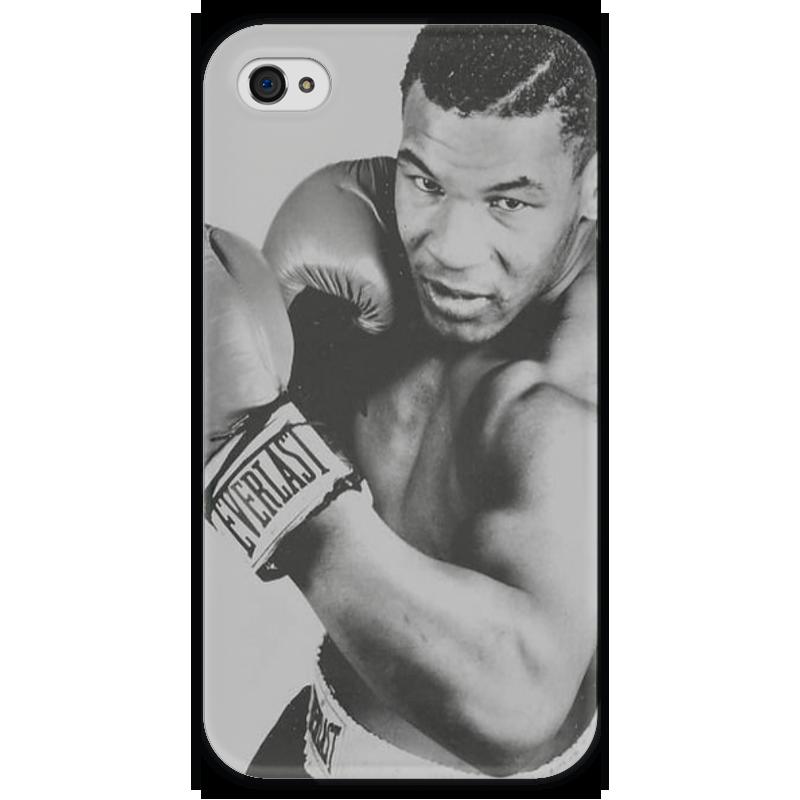 Чехол для iPhone 4 глянцевый, с полной запечаткой Printio Mike tyson iron чехол для iphone 4 глянцевый с полной запечаткой printio эфиопка