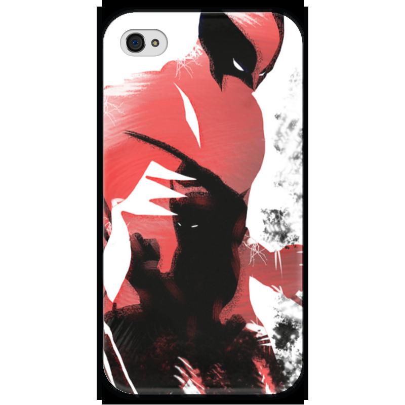 Чехол для iPhone 4 глянцевый, с полной запечаткой Printio Росомаха чехол для iphone 4 глянцевый с полной запечаткой printio иллидан