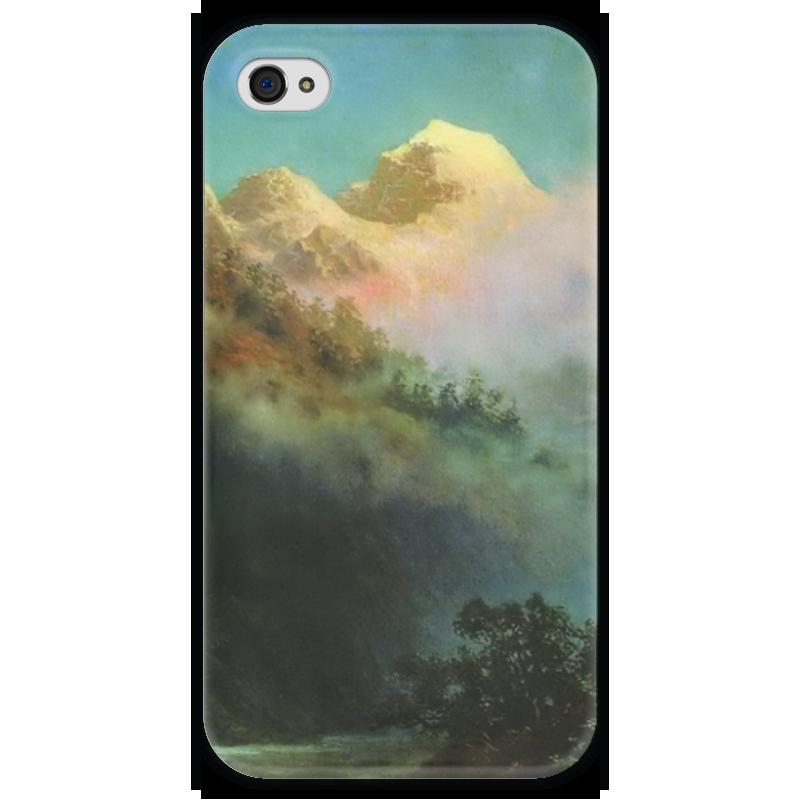Чехол для iPhone 4 глянцевый, с полной запечаткой Printio Восход солнца (картина архипа куинджи) восход солнца