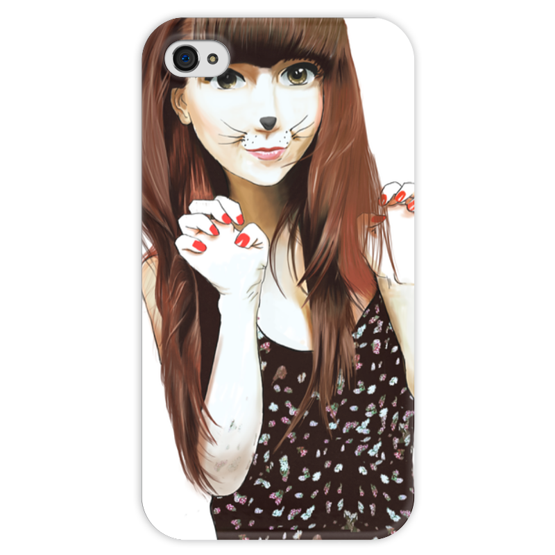 Чехол для iPhone 4 глянцевый, с полной запечаткой Printio Anime girl чехол для iphone 4 глянцевый с полной запечаткой printio skull girl