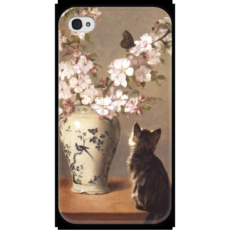 Чехол для iPhone 4 глянцевый, с полной запечаткой Printio Бабочка (джон генри дольф) миска для кошек собак гамма n0