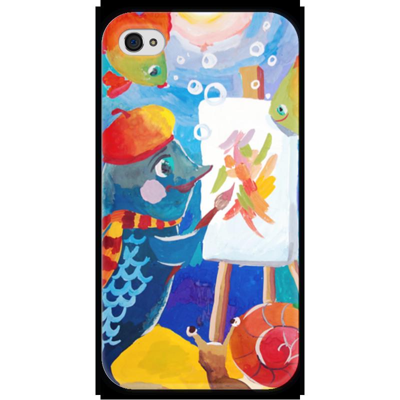Чехол для iPhone 4 глянцевый, с полной запечаткой Printio Подводный мир де ла бедуайер камилла подводный мир