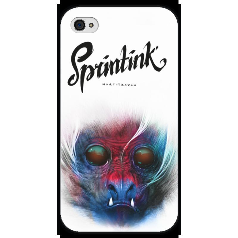 Чехол для iPhone 4 глянцевый, с полной запечаткой Printio Sprintink чехол для iphone 4 глянцевый с полной запечаткой printio эфиопка