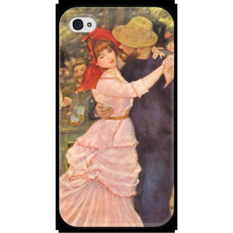 Чехол для iPhone 4 глянцевый, с полной запечаткой Printio Танец в буживале (пьер огюст ренуар) чехол для iphone 5 глянцевый с полной запечаткой printio портрет мадмуазель легран пьер огюст ренуар