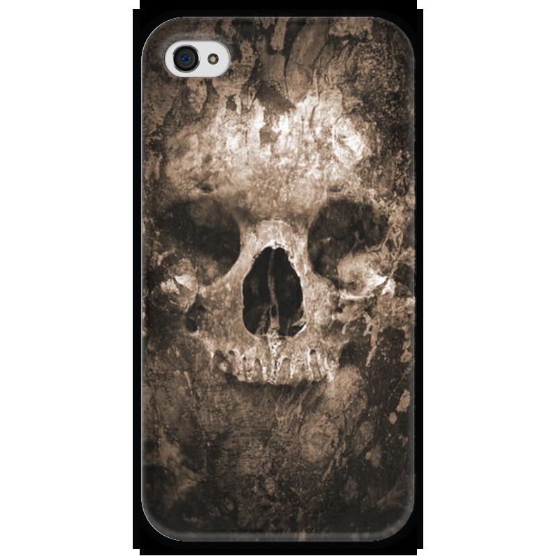Чехол для iPhone 4 глянцевый, с полной запечаткой Printio Череп чехол для iphone 4 глянцевый с полной запечаткой printio челси