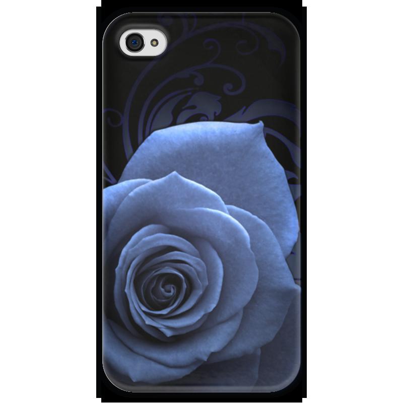 Чехол для iPhone 4 глянцевый, с полной запечаткой Printio Туманная роза чехол для iphone 4 глянцевый с полной запечаткой printio эфиопка