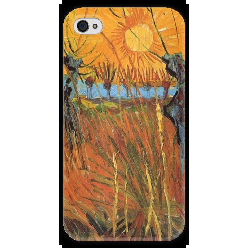 Чехол для iPhone 4 глянцевый, с полной запечаткой Printio Обрезанные ивы и закат (willows at sunset) ezflow гелевый лак огненный закат ezflow trugel blazin sunset 19300 95 14 мл
