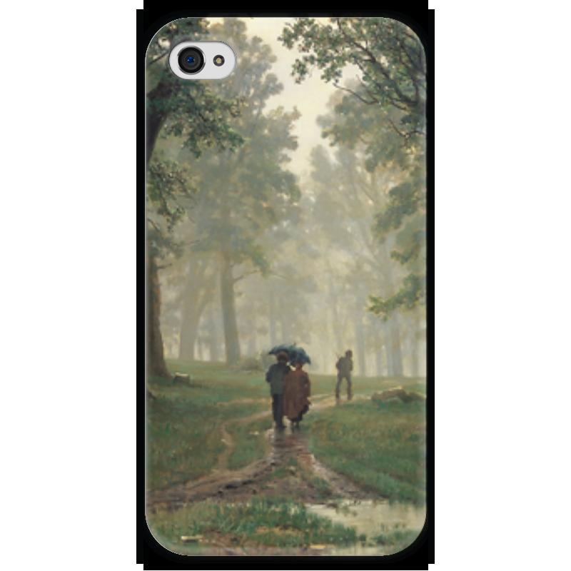 Чехол для iPhone 4 глянцевый, с полной запечаткой Printio Дождь в дубовом лесу (иван шишкин) иван бунин жизнь арсеньева