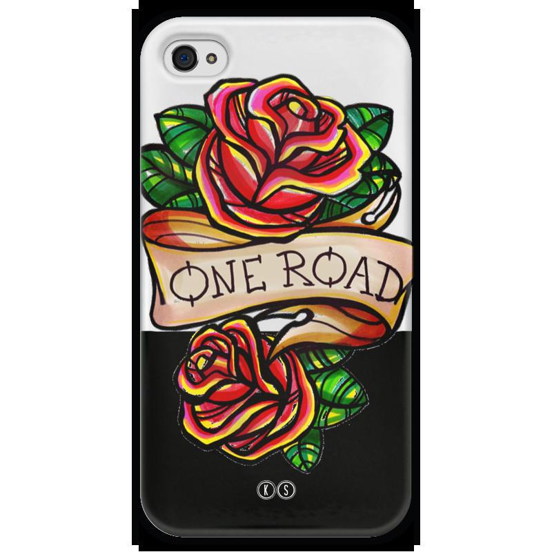 Чехол для iPhone 4 глянцевый, с полной запечаткой Printio One road 4 чехол для iphone 4 глянцевый с полной запечаткой printio leica m8