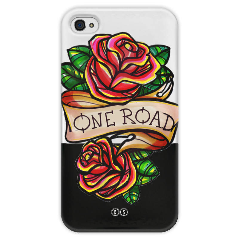Чехол для iPhone 4 глянцевый, с полной запечаткой Printio One road 4 printio чехол для iphone 4 глянцевый с полной запечаткой