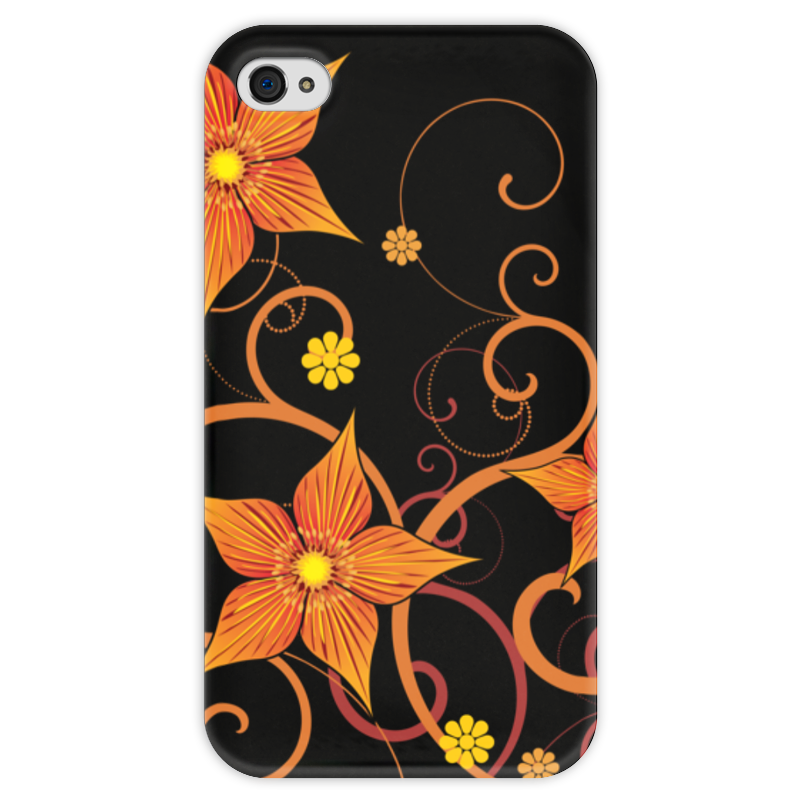 Чехол для iPhone 4 глянцевый, с полной запечаткой Printio Цветочный чехол для iphone 6 глянцевый printio цветочный