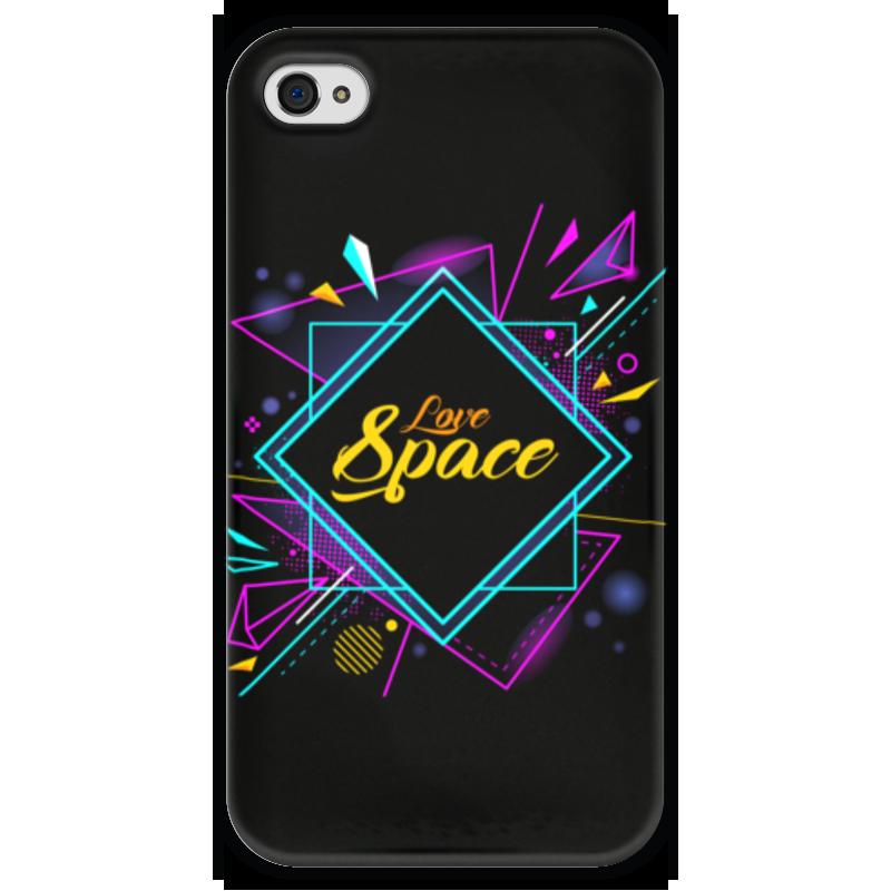 Чехол для iPhone 4 глянцевый, с полной запечаткой Printio Love space чехол для iphone 4 глянцевый с полной запечаткой printio эфиопка