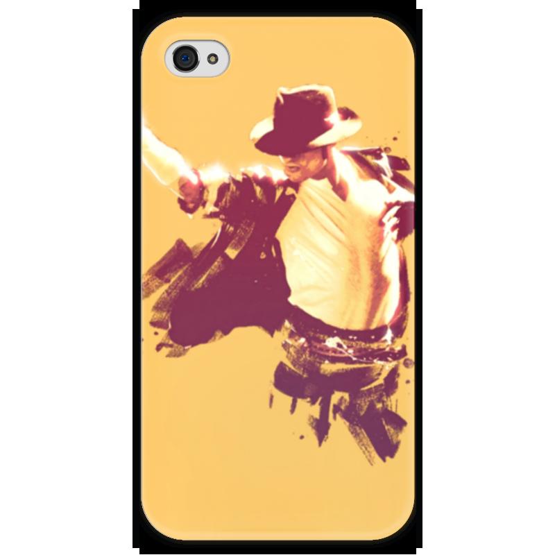 Чехол для iPhone 4 глянцевый, с полной запечаткой Printio Michael jackson аксессуары и игры для nintendo michael jackson galaxy tour jacket pants fancy dress up hall