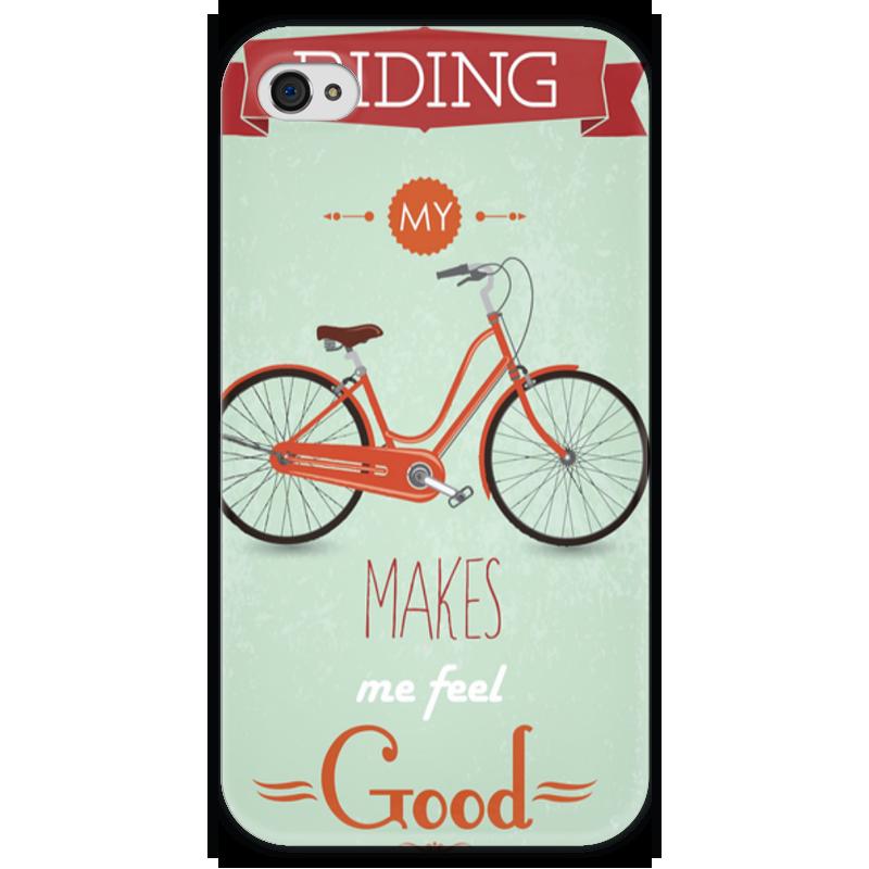 Чехол для iPhone 4 глянцевый, с полной запечаткой Printio Велосипед чехол для iphone 4 глянцевый с полной запечаткой printio челси