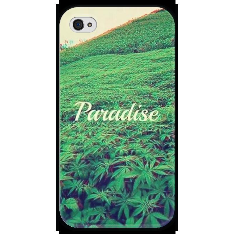 Чехол для iPhone 4 глянцевый, с полной запечаткой Printio Paradise чехол для iphone 4 глянцевый с полной запечаткой printio иллидан