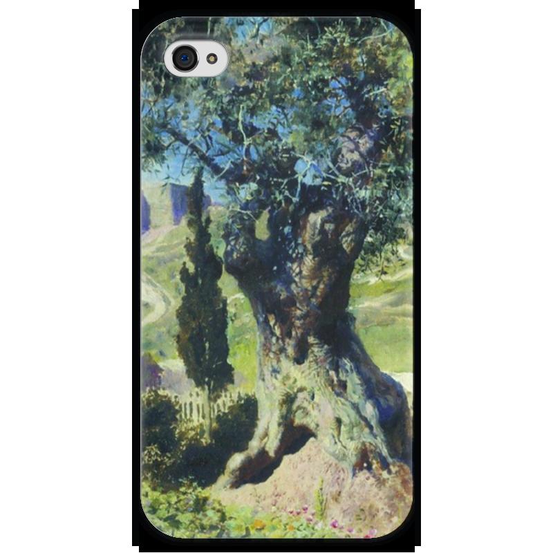 Чехол для iPhone 4 глянцевый, с полной запечаткой Printio Олива в гефсиманском саду в поленов