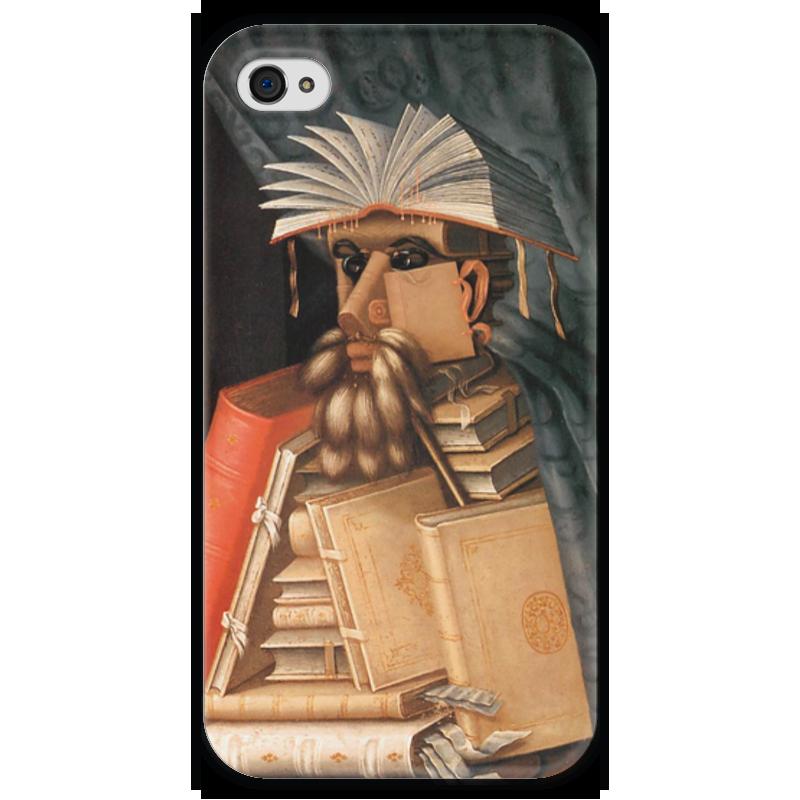 Чехол для iPhone 4 глянцевый, с полной запечаткой Printio Библиотекарь (джузеппе арчимбольдо) вернер кригескорте джузеппе арчимбольдо