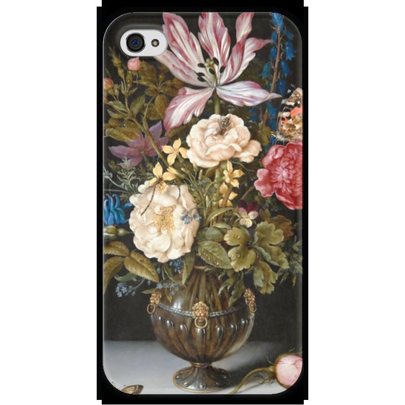 Чехол для iPhone 4 глянцевый, с полной запечаткой Printio Натюрморт с цветами (амброзиус босхарт старший) амброзиус босхарт