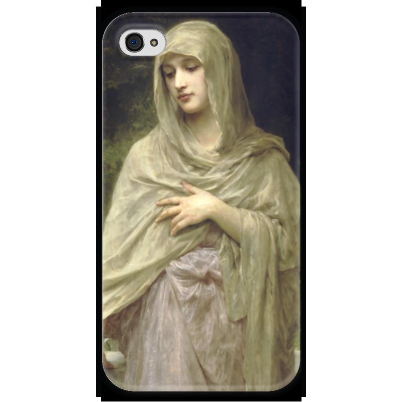 Чехол для iPhone 4 глянцевый, с полной запечаткой Printio Modestie (вильям бугро) чехол для iphone 4 глянцевый с полной запечаткой printio эфиопка