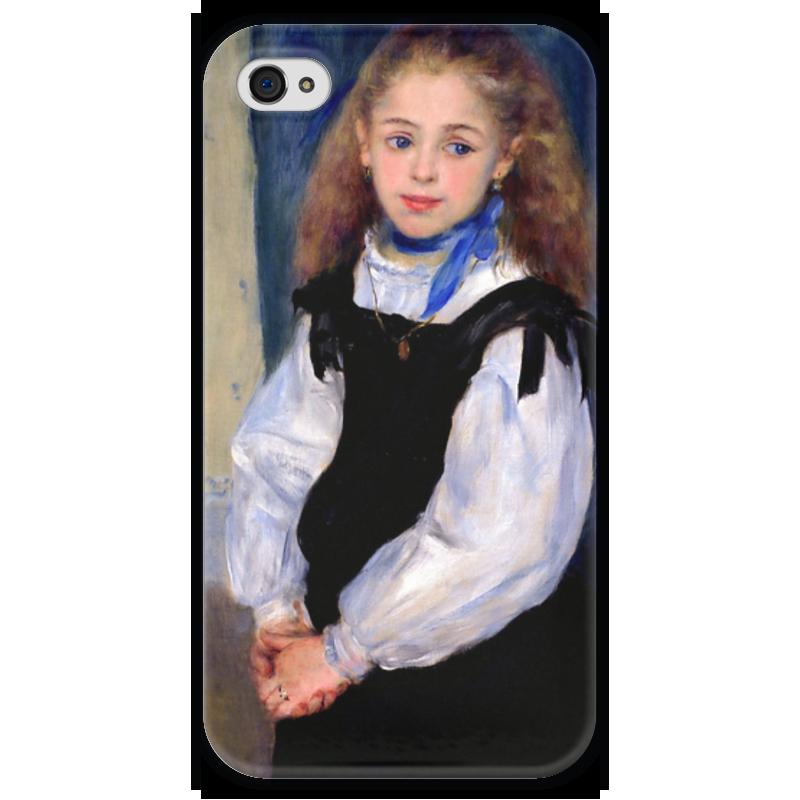 Чехол для iPhone 4 глянцевый, с полной запечаткой Printio Портрет мадмуазель легран (пьер огюст ренуар) чехол для samsung galaxy s5 printio буря пьер огюст кот