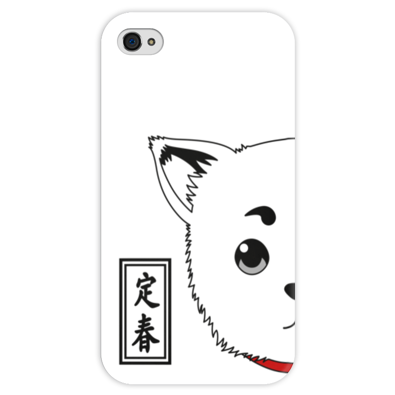 Чехол для iPhone 4 глянцевый, с полной запечаткой Printio Гинтама. садахару чехол для iphone 4 глянцевый с полной запечаткой printio эфиопка