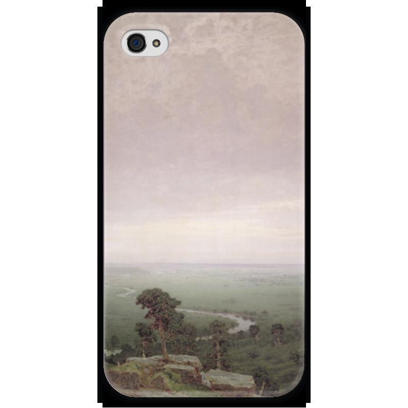 Чехол для iPhone 4 глянцевый, с полной запечаткой Printio Север (картина архипа куинджи) чехол для blackberry z10 printio север картина архипа куинджи