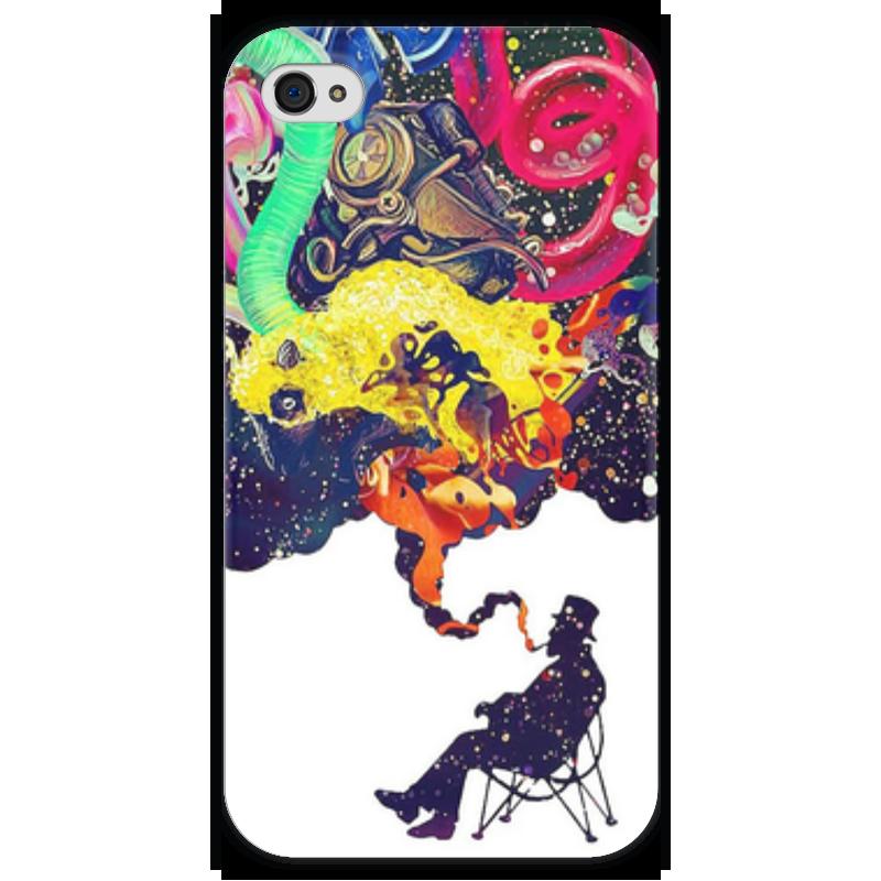 Чехол для iPhone 4 глянцевый, с полной запечаткой Printio Креатив чехол для iphone 4 глянцевый с полной запечаткой printio бэтмен