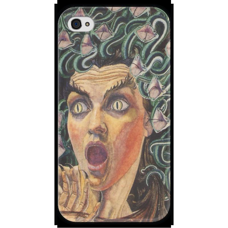 Чехол для iPhone 4 глянцевый, с полной запечаткой Printio Медуза (medusa) чехол для iphone 4 глянцевый с полной запечаткой printio эфиопка