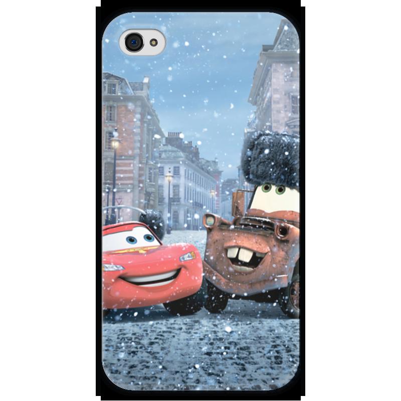 Чехол для iPhone 4 глянцевый, с полной запечаткой Printio Тачки чехол для iphone 4 глянцевый с полной запечаткой printio суарес
