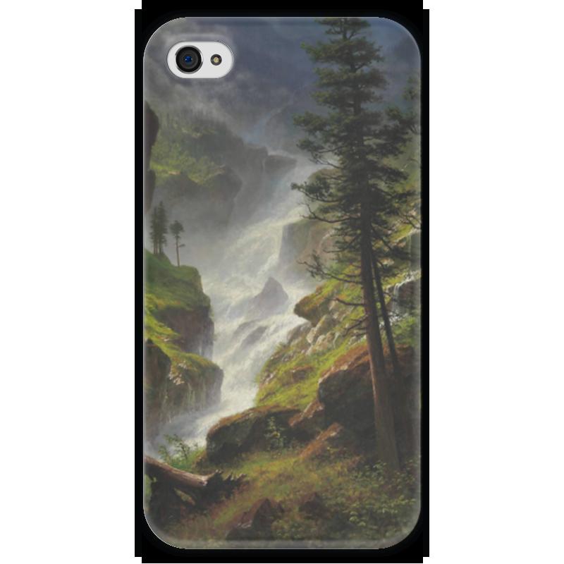 Чехол для iPhone 4 глянцевый, с полной запечаткой Printio Rocky mountain waterfall отзывы he wood rocky mountain wood