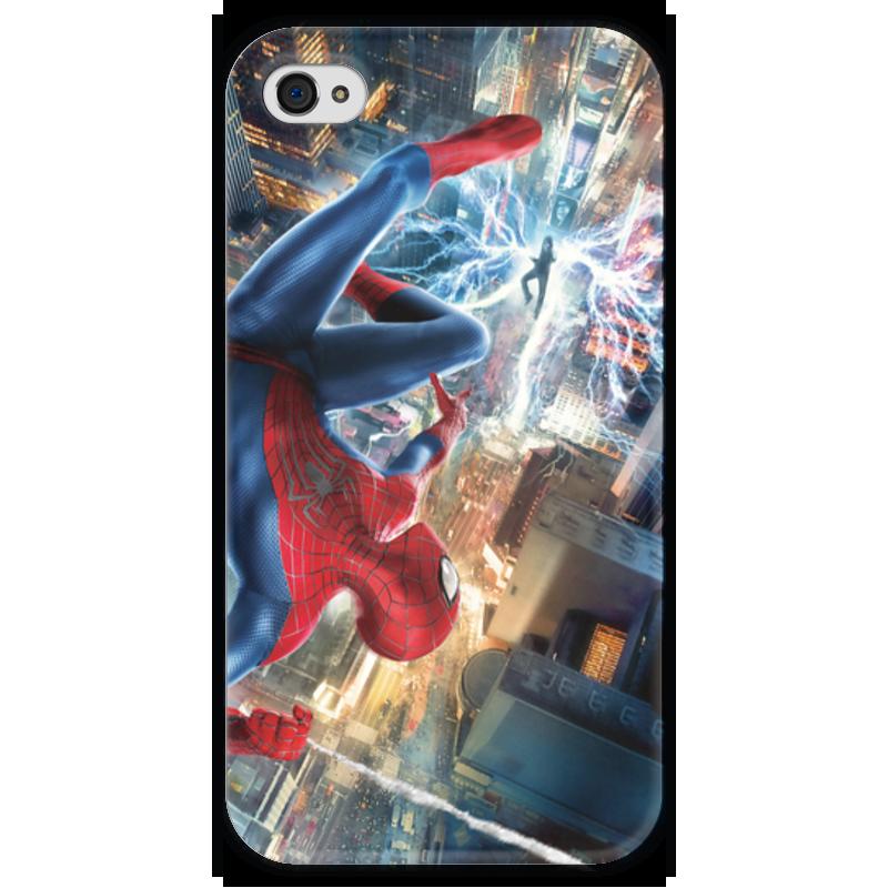 Чехол для iPhone 4 глянцевый, с полной запечаткой Printio Человек - паук паук 4 1 на ниву