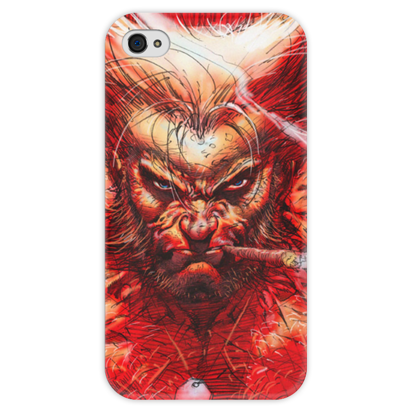 Чехол для iPhone 4 глянцевый, с полной запечаткой Printio Superheroes: wolverine marvel platinum the definitive wolverine reloaded